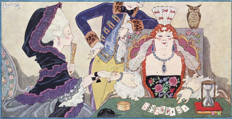 Cartomancy in France, historical artwork