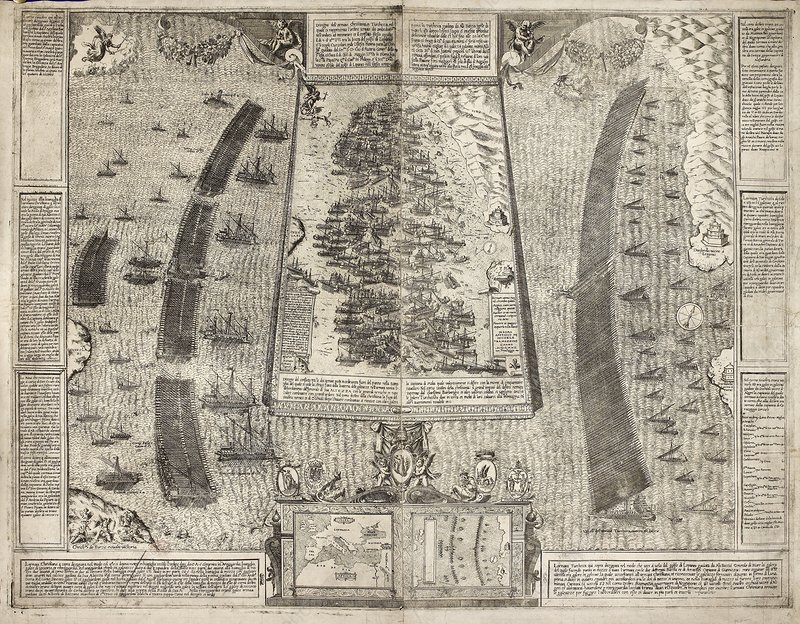 Battle of Lepanto 1571 Map Battle of Lepanto Map 1571