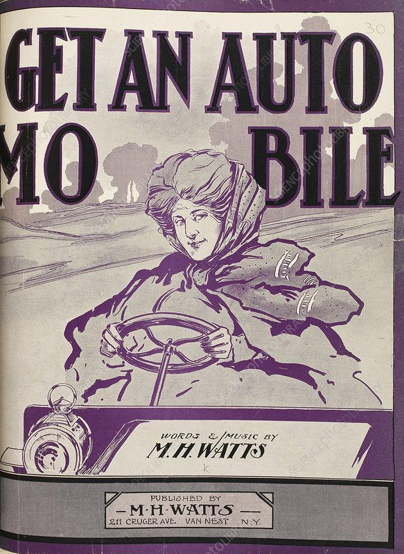 Automobile musical songbook, 1906