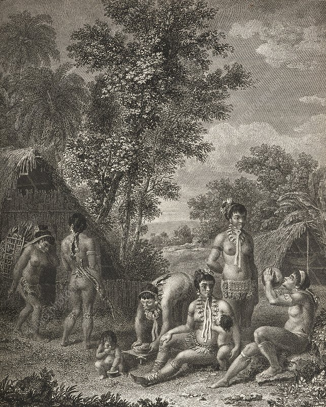 Native Caribbean family, 18th century