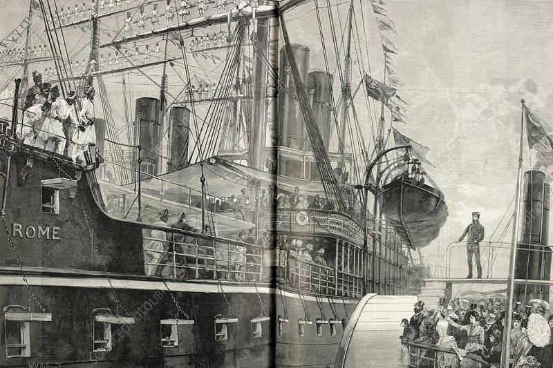 Steamship Rome, Royal Albert Dock, 1866