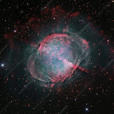 Dumbbell Nebula M27, Hubble image