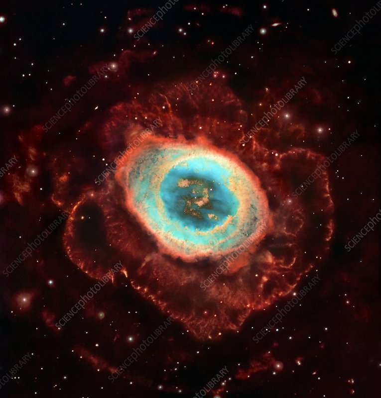 Ring Nebula M57, Hubble image