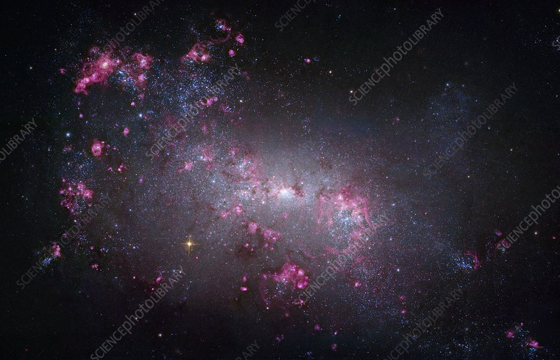Irregular galaxy NGC 4449, Hubble image