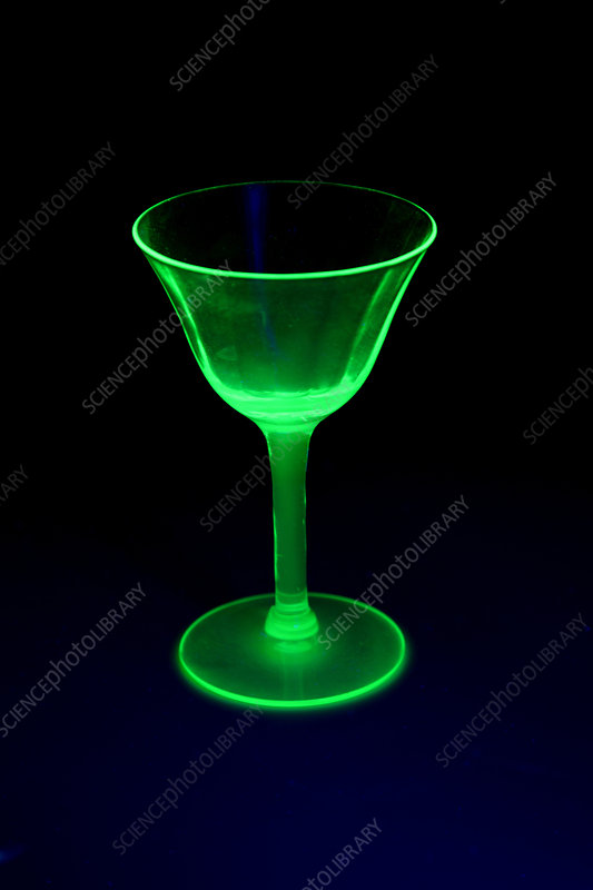 Vaseline glass, ultraviolet light