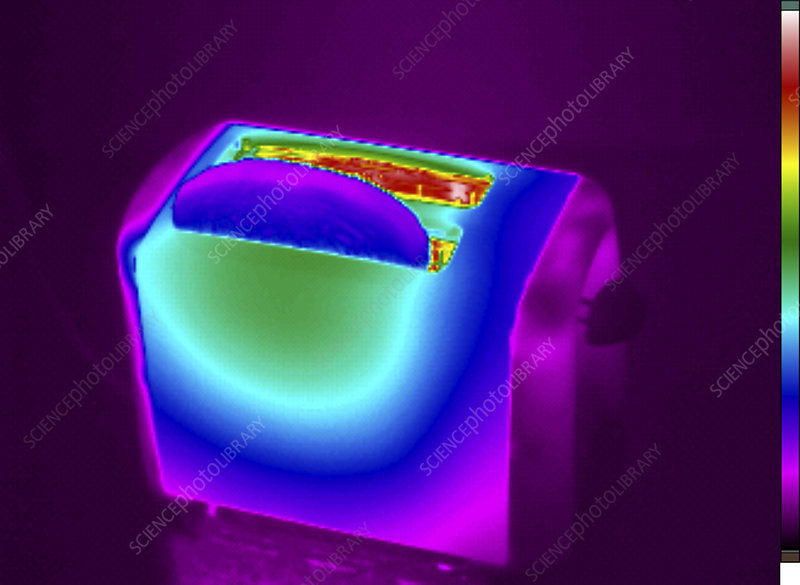 Thermogram of a Toaster