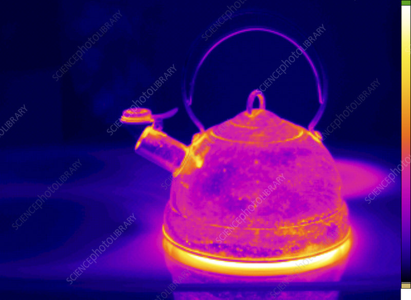 Thermogram of Kettle Boiling