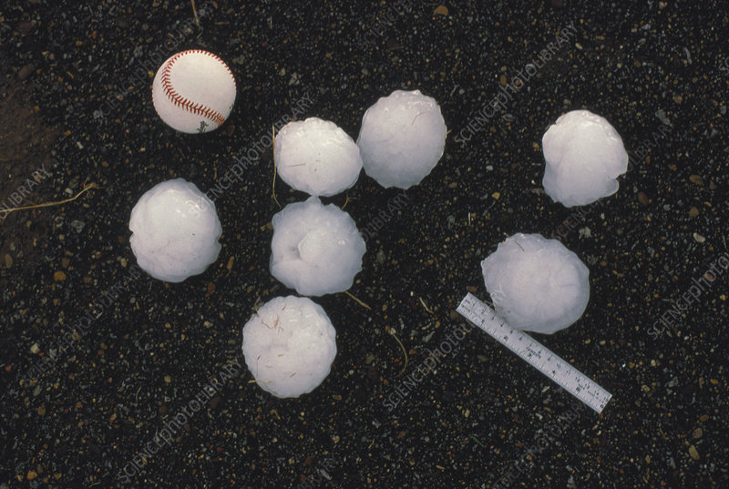 Softball Sized Hailstones