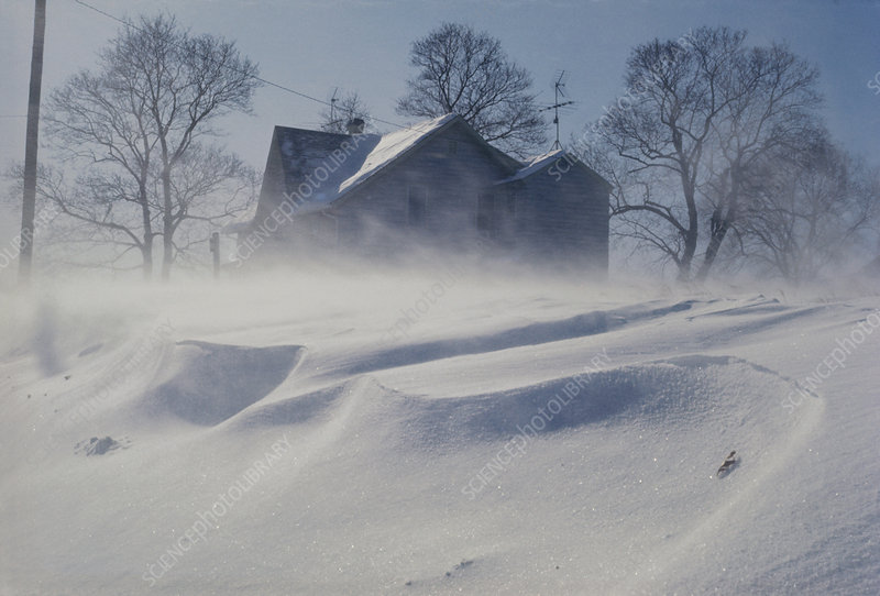 Blowing Snow Creates Snowbank