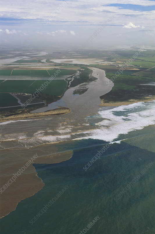 Flooding Salinas River empties into bay