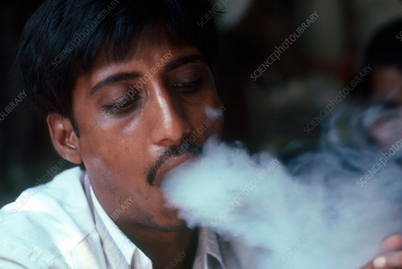 Hashish Smoker, India