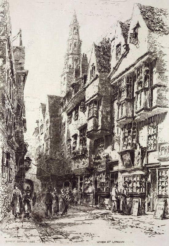 Wych Street, London, 19th century