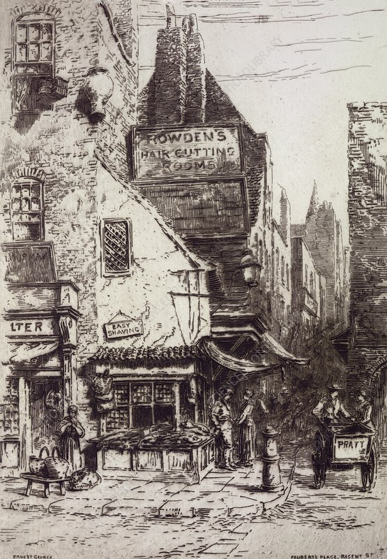 Foubert's Place, London, 19th century