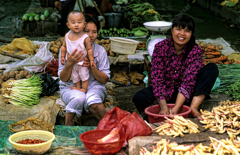 Family Selling Goods, China