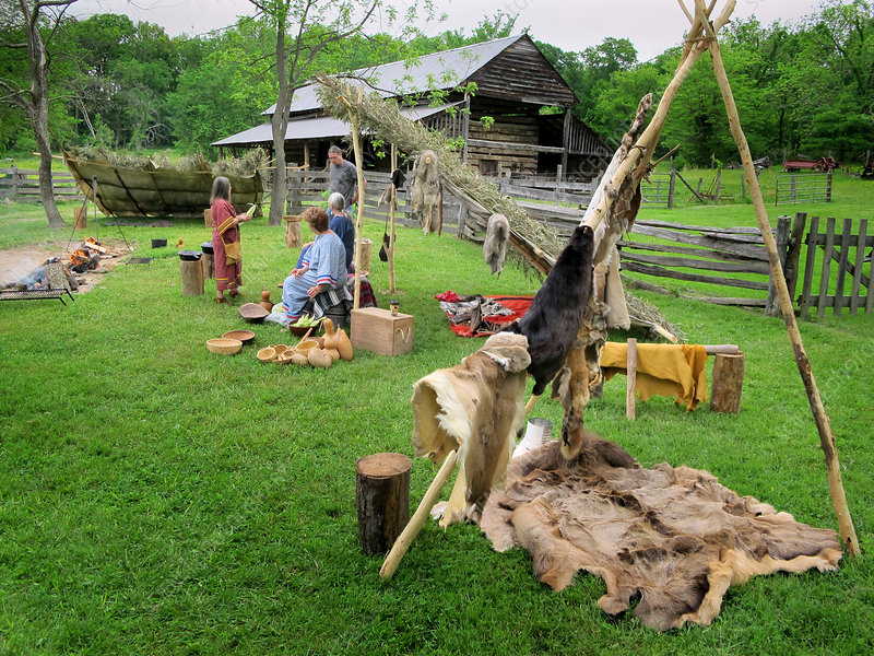 Yuchi Tribe Re-enactment Camp