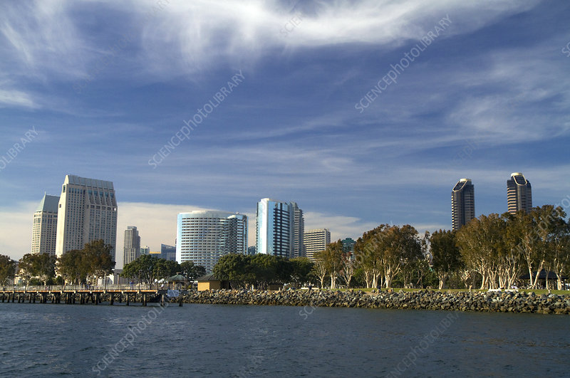 Cityscape and Harbour at San Diego