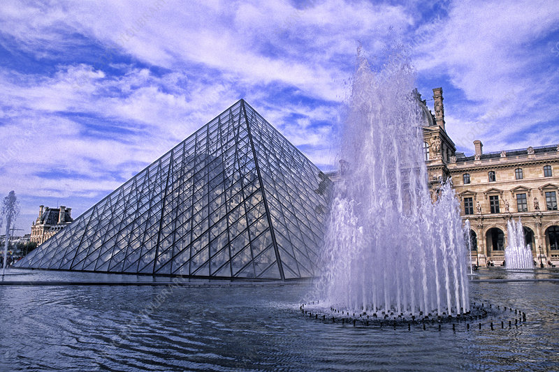 Glass Pyramid at the Louvre, France
