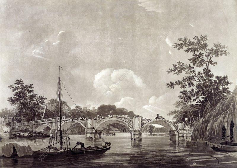 Richmond Bridge, 18th century artwork - Stock Image C017