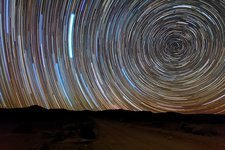 South celestial pole star trails