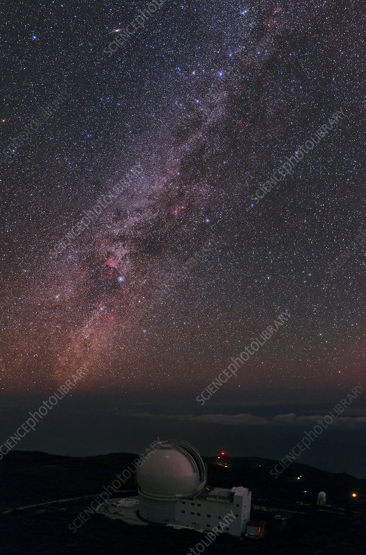 Milky Way over William Herschel Telescope