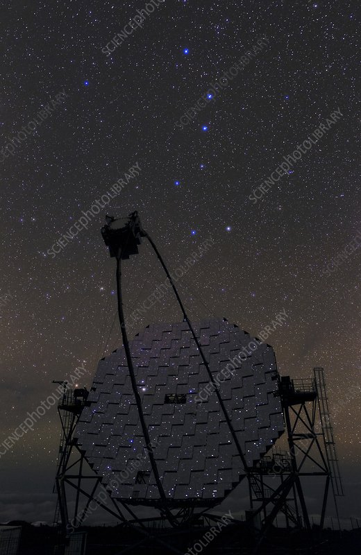 Big Dipper over MAGIC Telescope, La Palma
