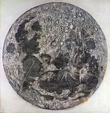 Cassini's Moon map, 1679