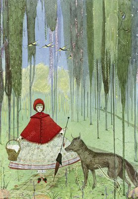 Little red riding hood, artwork