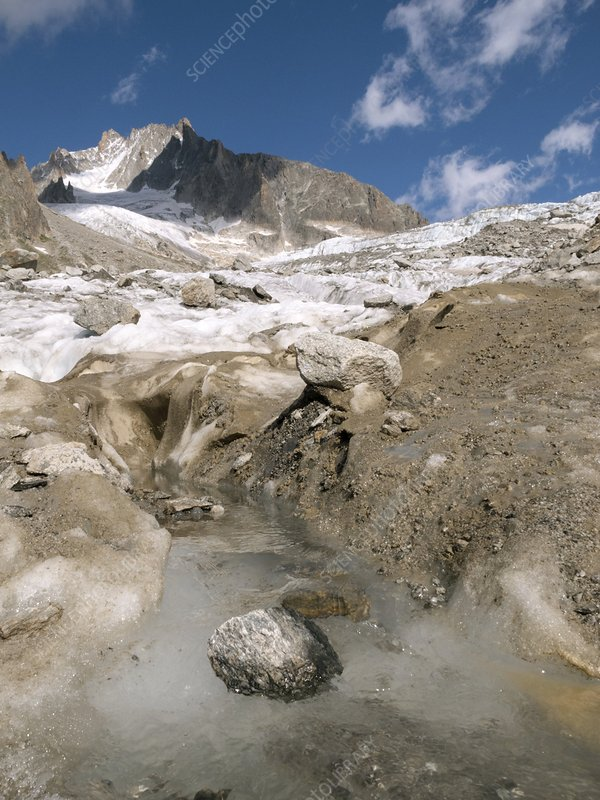 Glacier d'Argentiere, French Alps