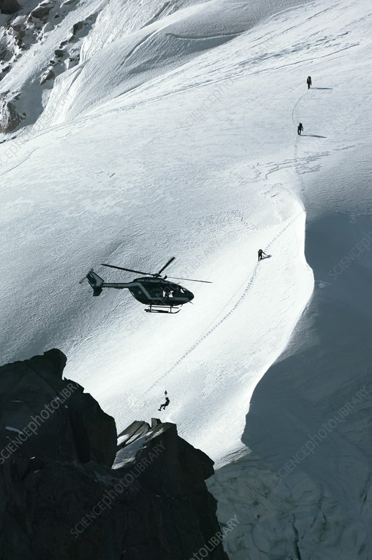 Helicopter rescue, French Alps