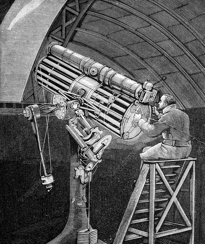 Draper observing the Great Comet of 1881