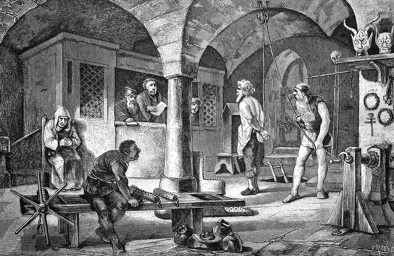 Torture chamber, historical artwork