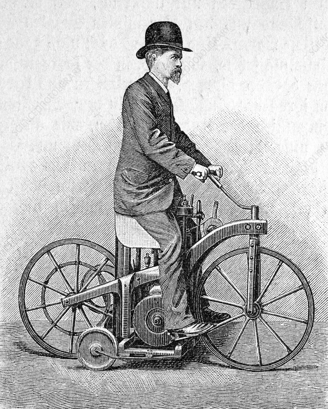 Early Daimler motorcycle, 1880s