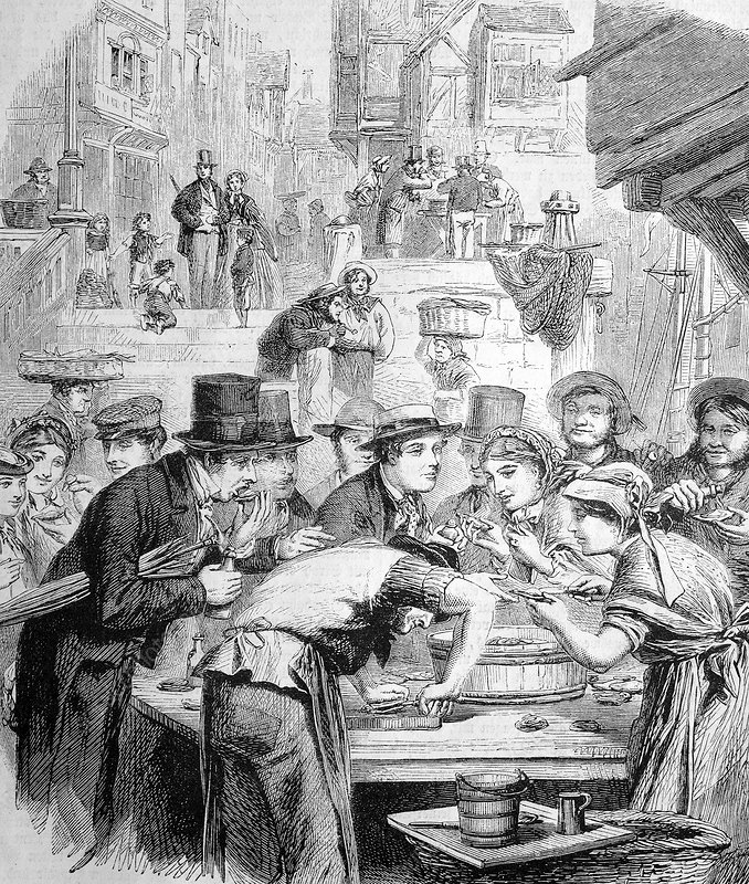 First London oysters, historical artwork