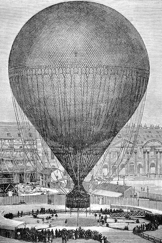 Viewing balloon at 1878 Paris Exposition