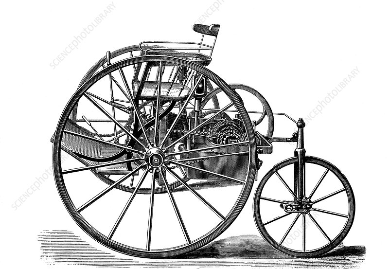 Early electric tricycle, 1881