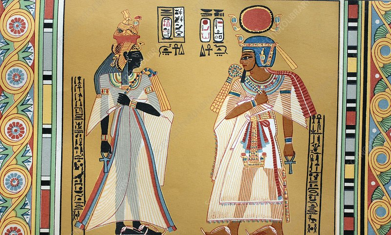 Pharaoh Amenhotep I and his wife, 1880s