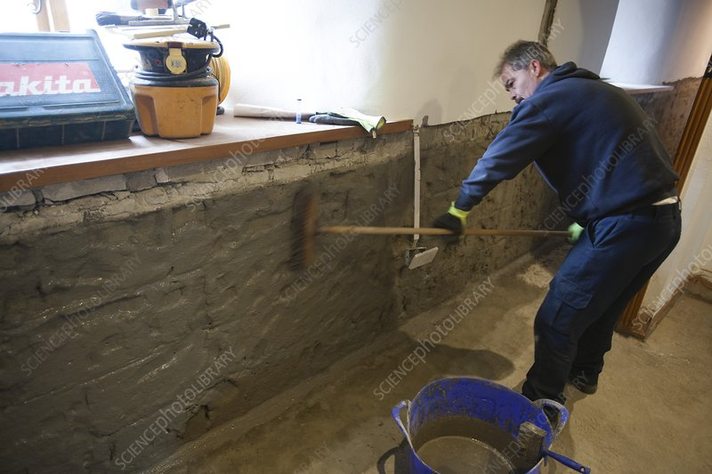 Waterproofing basement wall