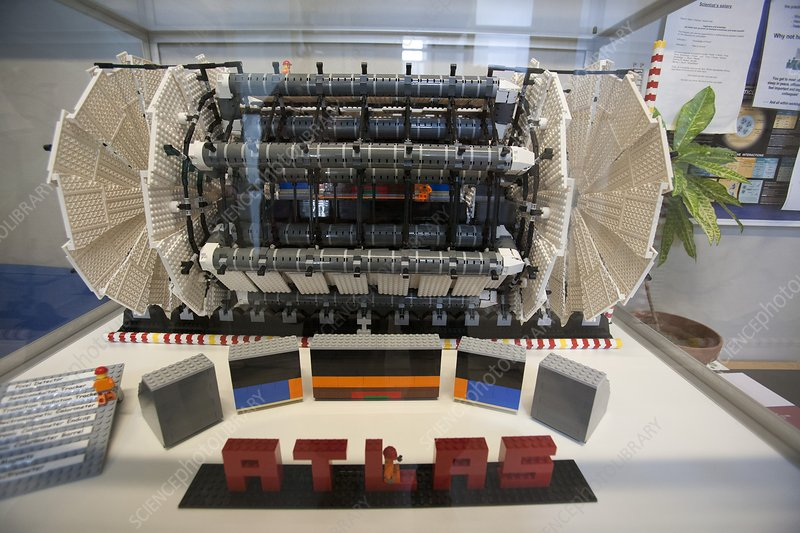 Model of the ATLAS particle detector
