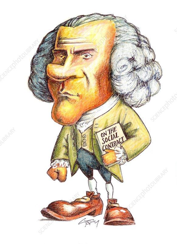 J.-J. Rousseau, Swiss-French philosopher