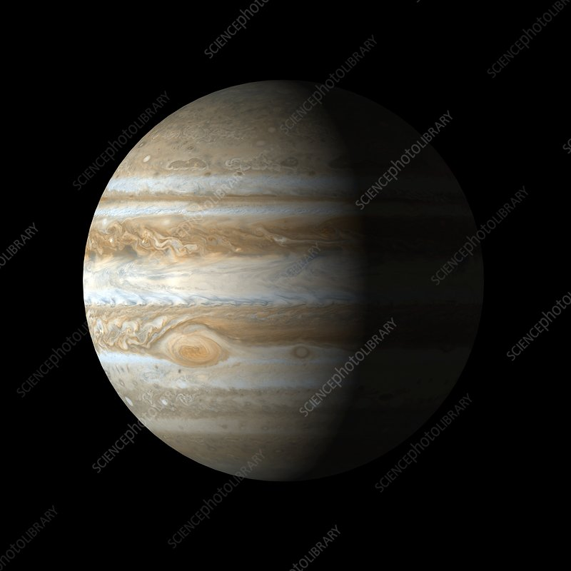 Jupiter from space, artwork