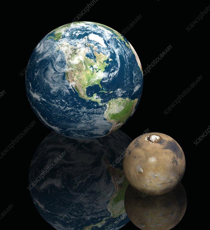 Mars and Earth, artwork