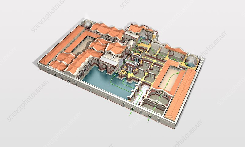 Roman baths, artwork