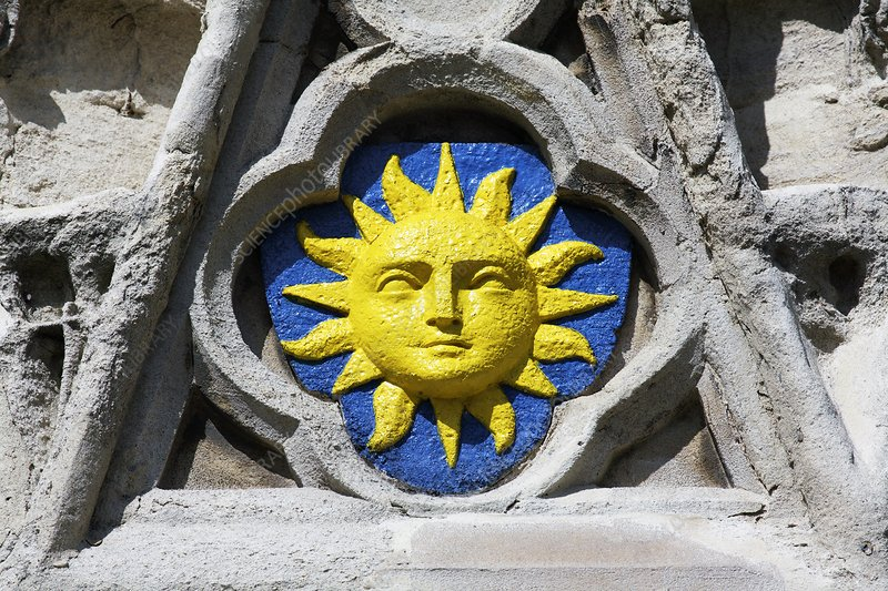 Sun face, Banbury Cross
