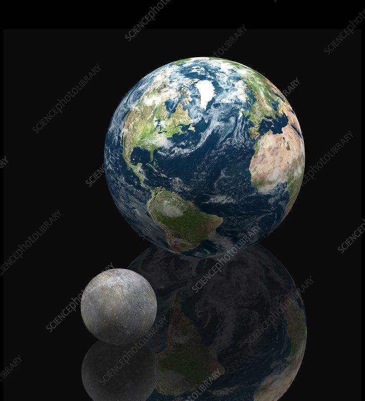 Mercury and Earth, artwork