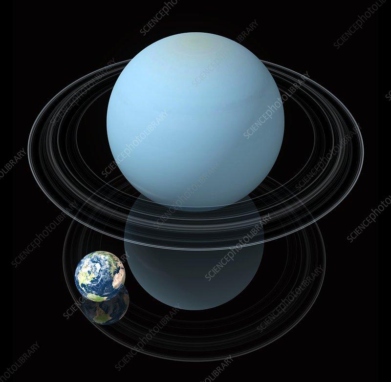 Uranus and Earth, artwork