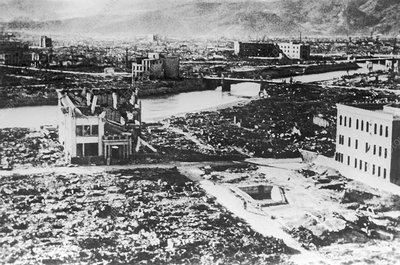 Hiroshima after the atom bomb