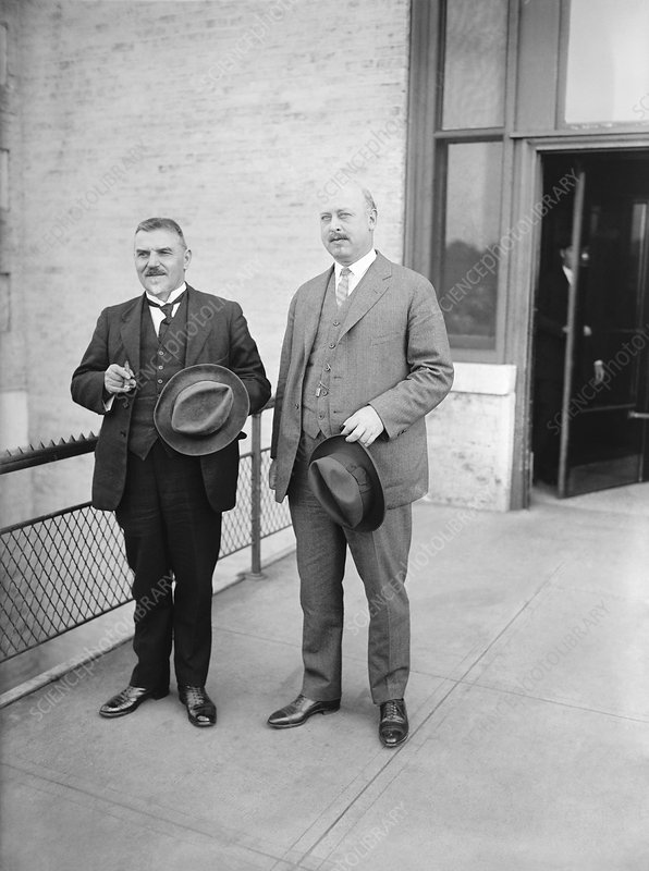 Veterinarians Theiler and Mohler in 1923