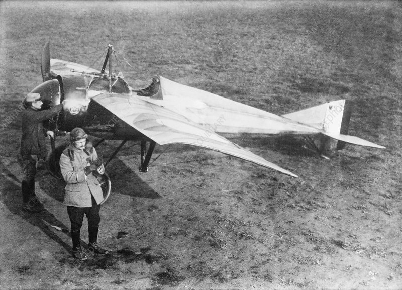 Vedrines and his military aircraft, 1910s