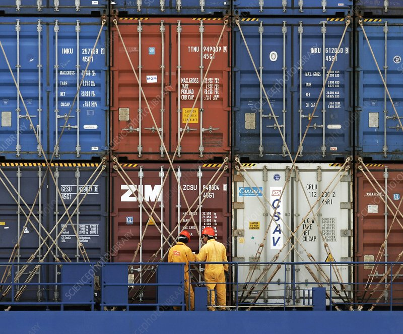 Container port, Le Havre, France