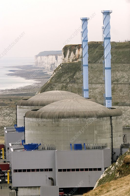 Penly nuclear power station, France